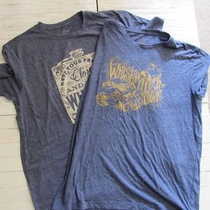 Lucky Brand Men's Tee shirt Lot of 2 X-large Blue